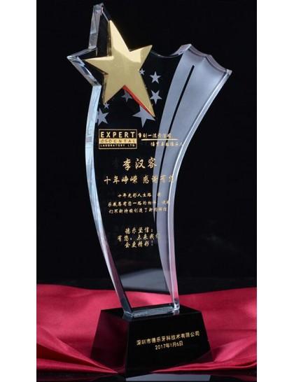 水晶獎座 C0089R - 星星